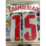 Official CHAMBERLAIN #15 Arsenal Away UCL 2014-15 PRINT
