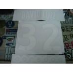 Official DAVID LUIZ #32 PSG Home Ligue 1 2014-15 PRINT + OOREDOO Sponsor