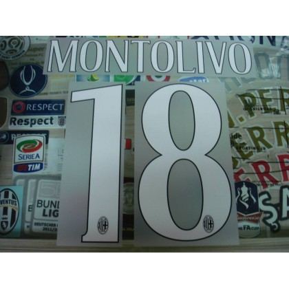 Official MONTOLIVO #18 AC Milan Home 2014-16 Name Number