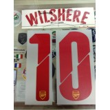 Official WILSHERE #10 Arsenal Away UCL 2014-15 PRINT