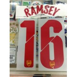 Official RAMSEY #16 Arsenal Away UCL 2014-15 PRINT