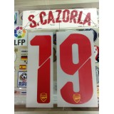 Official S.CAZORLA #19 Arsenal Away UCL 2014-15 PRINT