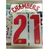 Official CHAMBERS #21 Arsenal Away UCL 2014-15 PRINT