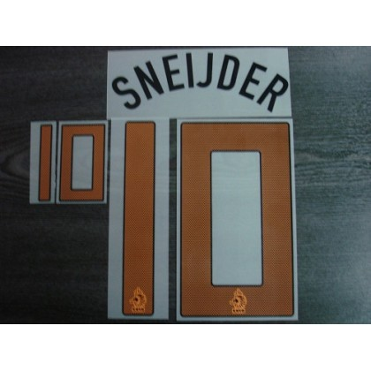 Official Sporting ID SNEIJDER #10 Holland Home EURO 2012 Name Number