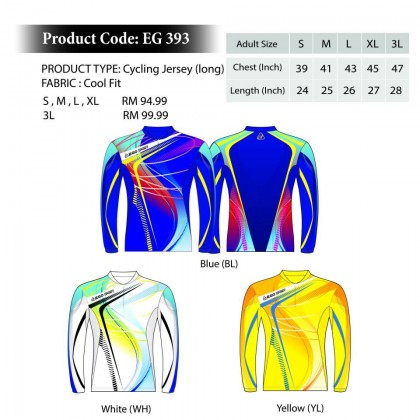EGO SPORT EG 393 LONG SLEEVES CYCLING JERSEY