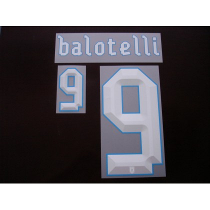Official BALOTELLI #9 Italy Home CONFEDERATION CUP 2013 Name Number