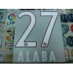 Official ALABA #27 Bayern Munich Home 2015-16 DEKOGRAPHICS PU PRINT