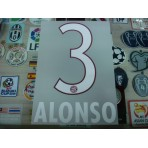 Official ALONSO #3 Bayern Munich Home 2015-16 DEKOGRAPHICS PU PRINT