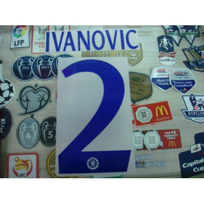 OFFICIAL IVANOVIC #2 Chelsea Away UCL CUP 2014-15 PU PRINT