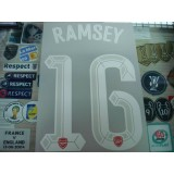 Official RAMSEY #16 Arsenal Home UCL CUP 2015-16 PRINT