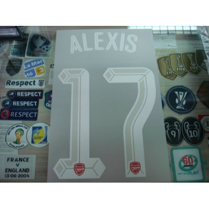 Official ALEXIS #17 Arsenal Home UCL CUP 2015-16 PRINT