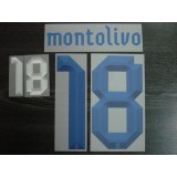 Official MONTOLIVO #18 Italy Away EURO 2012 2012-14 PRINT