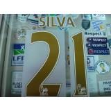 OFFICIAL SILVA #21 Manchester City Away 2014-15 PS PRO PRINT
