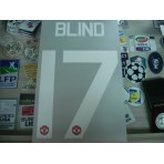 Official BLIND #17 Manchester United Home CUP UCL EUROPA 2015-17 PRINT