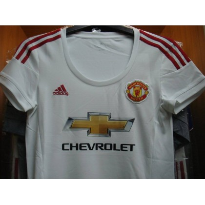 ADIDAS Manchester United Away WOMEN 2015-16 with FA CUP FINAL EMBROIDERY  Jersey