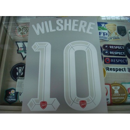 Official WILSHERE #10 Arsenal Home UCL CUP 2015-16 PRINT