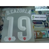 Official S.CAZORLA #19 Arsenal Home UCL CUP 2015-16 PRINT