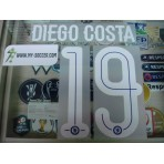 OFFICIAL DIEGO COSTA #19 Chelsea Home UCL CUP 2015-17 PU PRINT
