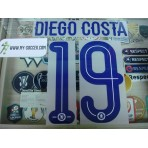 OFFICIAL DIEGO COSTA #19 Chelsea Away UCL CUP 2015-16 PU PRINT