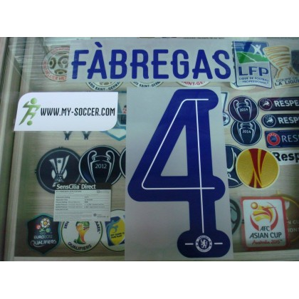 OFFICIAL FABREGAS #4 Chelsea Away UCL CUP 2015-16 PU PRINT