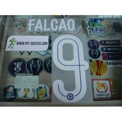 OFFICIAL FALCAO #9 Chelsea Home UCL CUP 2015-16 PU PRINT