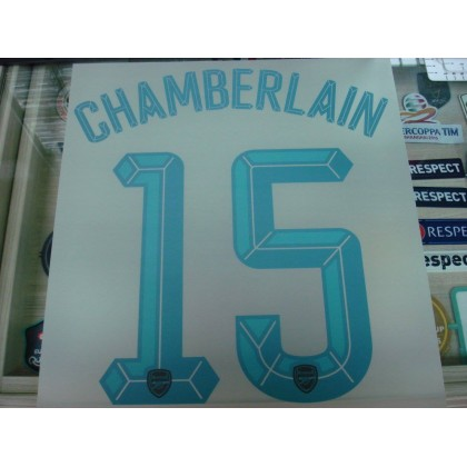 Official CHAMBERLAIN #15 Arsenal 3rd UCL CUP 2015-16 PRINT