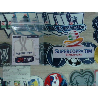 Official Italian CALCIO SUPERCOPPA TIM +  SHANGHAI 2015 Patches