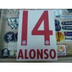 Official ALONSO #14 Bayern Munich Away 2015-16 DEKOGRAPHICS PU PRINT