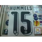 Official HUMMELS #15 Borussia Dortmund Home 2015-16 PU PRINT