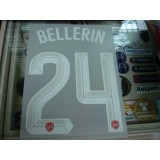 Official BELLERIN #24 Arsenal Home UCL CUP 2015-16 PRINT