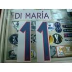 Official DI MARIA #11 Paris Saint Germain PSG Away UCL 2015-16 PRINT