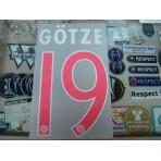 Official GOTZE #19 Bayern Munich 3rd UCL 2015-16 DEKOGRAPHICS PU PRINT