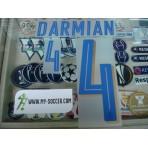 Official DARMIAN #4 Italy Away 2015-16 EURO 2016 PU PRINT