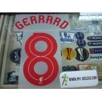 Official GERRARD #8 Liverpool Away EUROPA League 2015-16 PRINT