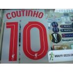Official COUTINHO #10 Liverpool Away EUROPA League 2015-16 PRINT