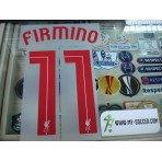 Official FIRMINO #11 Liverpool Away EUROPA League 2015-16 PRINT