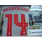 Official HENDERSON #14 Liverpool Away EUROPA League 2015-16 PRINT