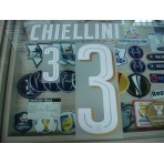 Official CHIELLINI #3 Italy Home 2015-17 EURO 2016 PU PRINT