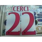 Official CERCI #22 AC Milan Away 2015-16 Name Number