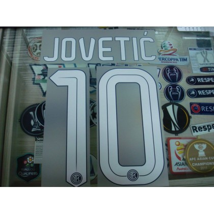 Official JOVETIC #10 Inter Milan Home 2015-16 STILSCREEN Name Number