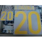 Official S.CAZORLA #20 Spain Home 2015-17 EURO 2016 PRINT