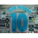 OFFICIAL KUN AGUERO #10 Manchester City Away UCL 2015-16 PRINT