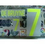 Official DE BRUYNE #7 BELGIUM Home 2015-17 EURO 2016 PRINT