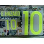 Official E.HAZARD #10 BELGIUM Home 2015-17 EURO 2016 PRINT