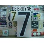 Official DE BRUYNE #7 BELGIUM Away 2015-17 EURO 2016 PRINT
