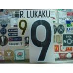 Official LUKAKU #9 BELGIUM Away 2015-17 EURO 2016 PRINT