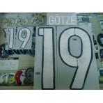 Official GOTZE #19 Germany Away 2015-17 EURO 2016 PRINT
