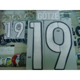 Official GOTZE #19 Germany Away 2015-17 EURO 2016 PRINT