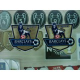 Official EPL PLAYER SIZE Man City Champion 2013-14 GOLD Patches