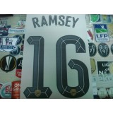 Official RAMSEY #16 Arsenal Away UCL CUP 2015-16 PRINT